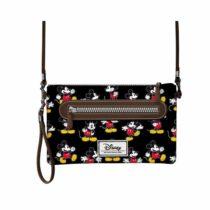 Disney Classic Mickey Moving Messenger Bag, 28 cm, Black (Negro)