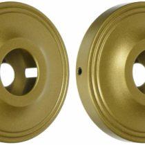 Allied Brass PR-98-ABR Shower Curtain Escutcheon, Antique Brass