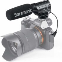 saramonic sr-m3 mini-microphone Directional Condenser Microphone with Suspension for DSLR/Camcorder Black
