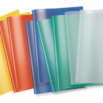 19991 Herma A5 Exercise Book Covers Pack of 10 Transparent/Assorted Colours