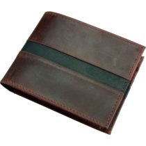 Alassio Wallet in Landscape Made from Real Leather Purse 12 cm, 12.5 x 9.5 cm Brown
