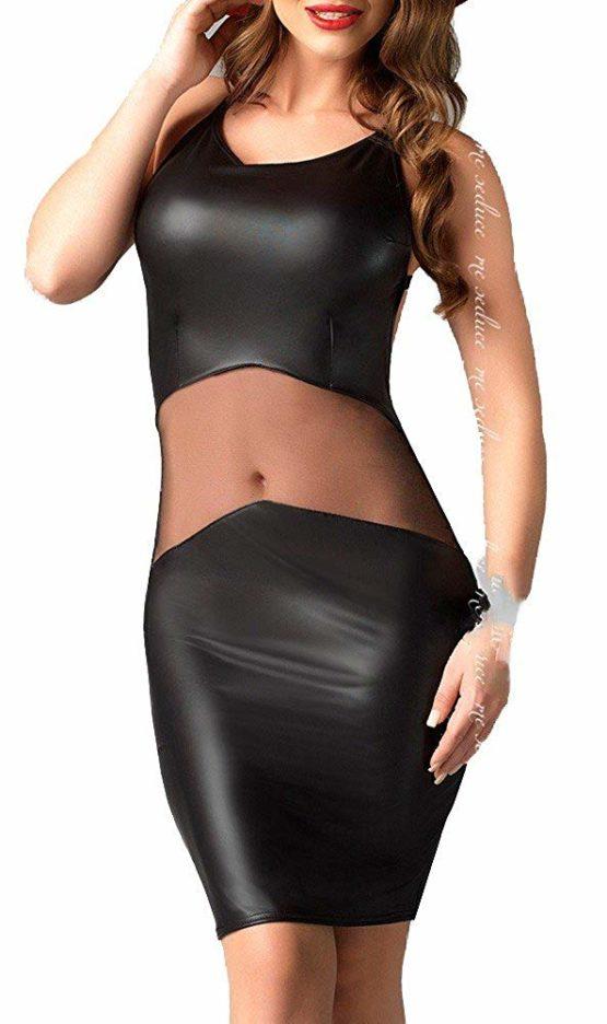 1001-kleine-Sachen Women's Pencil Plain Dress Black Black