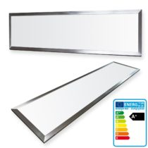 1x LEDVero 120×30 cm Ultraslim LED Panel  – 36W, 3000lm, 4500K ceiling light with mounting clips and  EMV2016 transformer – neutral white