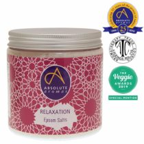 Absolute Aromas Relaxation Epsom Bath Salt 575g – Magnesium Sulphate Infused with 100% Pure Essentials Oils – Petitgrain, Bergamot, Vetiver, Lavender and Chamomile Oils – Soak and Relax Tired Muscles