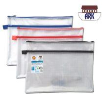 12 X A4+ Twin Pocket Tuff Bag School Waterproof Storage Strong Pencil Pen Case Zip Wallet (360x 260mm)