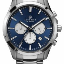 Accurist Men's Quartz Watch with Chronograph Display and Silver Stainless Steel Bracelet