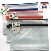 12 X A5 Twin Pocket Tuff Bag School Waterproof Storage Strong Pencil Pen Case Zip Wallet (230x 180mm)