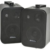 Adastra B30V-B Powerful 3 Way Speaker with Mounting Brackets – Black (Pack of 2)