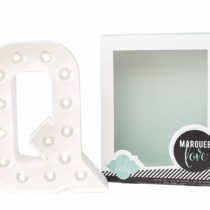 American Crafts Heidi Swapp Marquee Love Letters, Numbers and Shapes 8.5-inch, Q, Paper, White