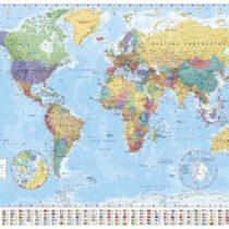 1art1® Empire 215833 World Map Flags 91 cm x 61 cm