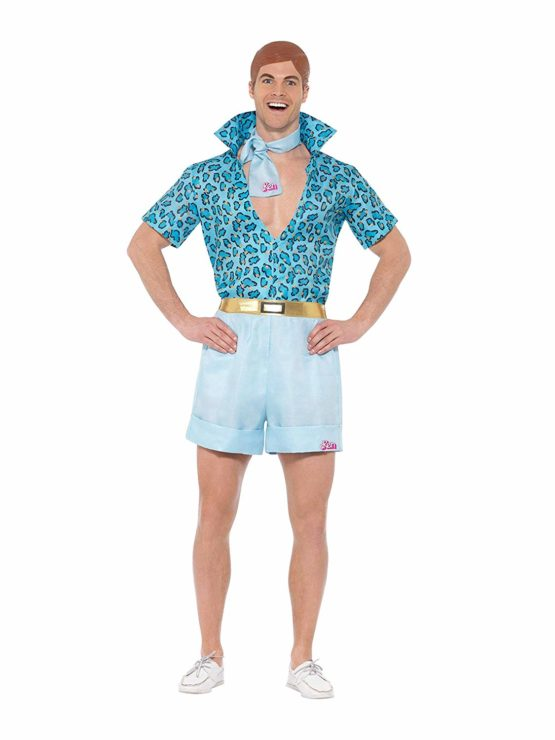 Smiffys 42979M Barbie Safari Ken Costume, Blue, Medium, 38 – 40-Inch