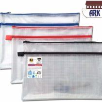 12 x A3+ Twin Pocket Tuff Bag School Waterproof Storage Strong Pencil Pen Case Zip Wallet (460x 350mm)