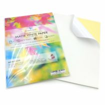 100 Sheets of Quality A4 White MATTE Self Adhesive/Sticky Back Label Printing Paper Sheet