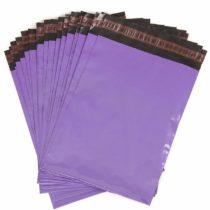 100 Purple Mailing Bags/Postal Sacks 250mm x 355mm – 10″ x 14″