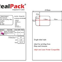 110mm x 80mm Integrated Labels, Sticky Address Post Pack Paper A4 X 1000 Address Paper, Compatible with Inkjet and Laser Printer – Diamond Packaging