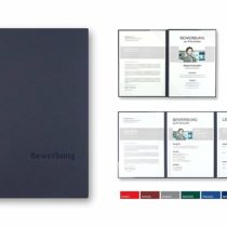 """'Pack of 5Sheets Exclusivdruck 10Mega Plus 4-Part Job Applications Folders Pack of Classic Navy Premium Quality with Elegant Relief Embossing""""Bewerbung/Product Design by Mario Lemani"""""""