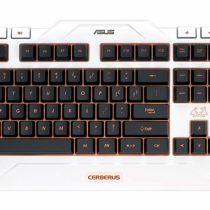 Asus Cerberus Gaming Keyboard USB Backlit LED, Italian Layout No Bianco