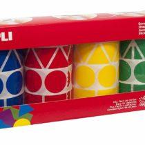 Apli 946022 – Geometric Stickers roll 4 Units, Blue/Green/Yellow/red