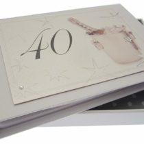 40th Birthday, Mini Photo Album, Champagne Bucket
