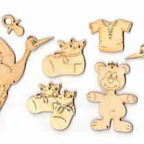'Petra's Craft Baby News BYH19S Wood Set 19Piece