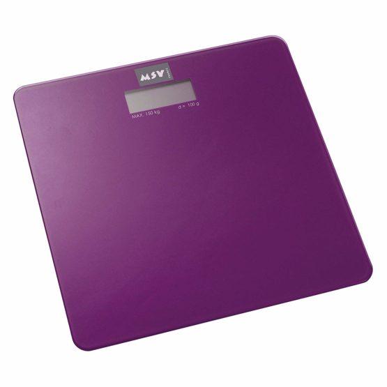 141401Tempered Glass Digital Bathroom Scale, Purple