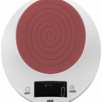 ADE KE1409 Philippa. Digital Kitchen Scale. Happy Design. ABS Plastic case and Silicon Rubber Surface. LCD Display. Tare Function. Batteries incl, Chilli, small