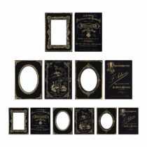 Advantus Idea-Ology Sophisticate Mini Cabinet Cards-Black/Gold Holds 6 3 x 4-inch Photos, Other, Multicoloured, 13.58×22.4×0.76 cm