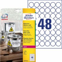 105599 – Avery (30mm) Heavy Duty Labels (White) 20 Sheets
