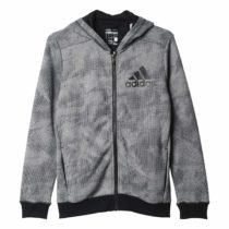 adidas Boys' YB ESS AOP FZ H Sweatshirt