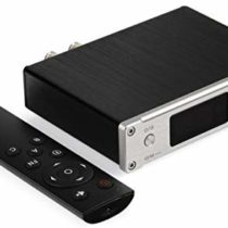 SMSL Q5 50 W USB/Coaxial/Optical Pro Digital Amplifier 2 with Remote Control – Silver