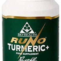 Bio Health Runo Turmeric, Rhizome and Black Pepper Capsules, 120-Count