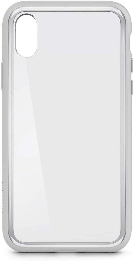 Belkin SheerForce Elite Scratch-Resistant Transparent Case for iPhone X, Protective and Drop Resistant – Clear/Silver
