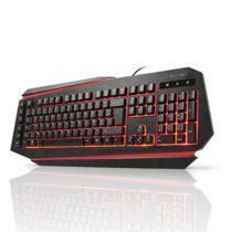 aLLreLi K9500U LED Backlit Gaming Keyboard Black (UK Layout)