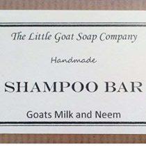 1 x Shampoo Bar – Goats Milk and Neem Oil 100G. Eczema, Psoriasis, Seborrhoeic Dermatitis.