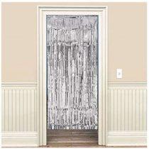 Amscan Door Curtain, Metalic Silver