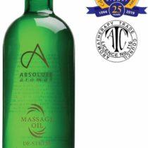 Absolute Aromas De-Stress Bath & Massage Oil 100ml with Frankincense, Lavender, Jasmine & Rose Pure Essential Oils in a Jojoba, Sweet Almond & Evening Primrose base