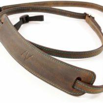 4V Design Lusso Tuscany Leather Medium Handmade Washed Leather Camera Strap w/Universal Fit Kit, Green/Cyan (2MP01BWW2830)