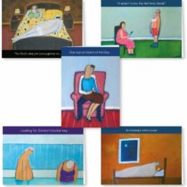 5 Wry Smile Humour Cards for Couples