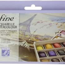 'Lefranc & Bourgeois Fine, Fine Watercolour 1/2 Pan Watercolour Set 12 Colours