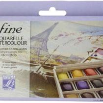 'Lefranc & Bourgeois Fine, Fine Watercolour 1/2Pan Watercolour Set 12Colours