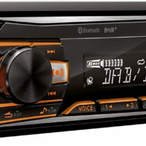 Alpine Electronics UTE-204DAB DAB and Bluetooth 1 DIN Radio, Schwarz (RGB Beleuchtung)