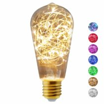 1w ST58 LED Industrial Decorative Light Bulb Coloured Fairy String Filament E27 (Warm)