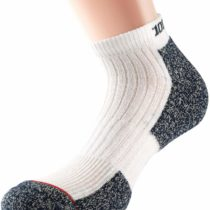 1000 Mile Women's Ultra Performance Socklet with Cupron-White/Blue, Small/Size 3-5.5