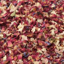 1 Litre Rose, Cornflower and Lavender Natural Petal Confetti – Biodegradable – Many Colour, Type and Mix Options Available (Cornflower Rose Lavender Mix 01) in an airtight resealable Pouch.