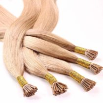 "100 x 1g Pre Bonded I-Tip Stick Extensions – 20"", colour #27 medium golden blond, straight – real human pre-bonded microring hair extensions bead"