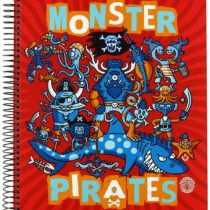 A4 Grid Pad 5 mm Hard Cover 140 hj Monster Pirates Katuki Saguyaki