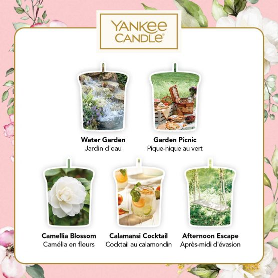 Yankee Candle Gift Set, 5 Votive Scented Candles, Garden ...