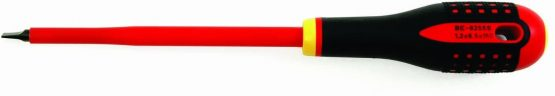 Bahco BE-8220S BHBE-8220S Ergo Insulated Screwdriver for Slotted Head Screws, Multi-Colour, 222 mm