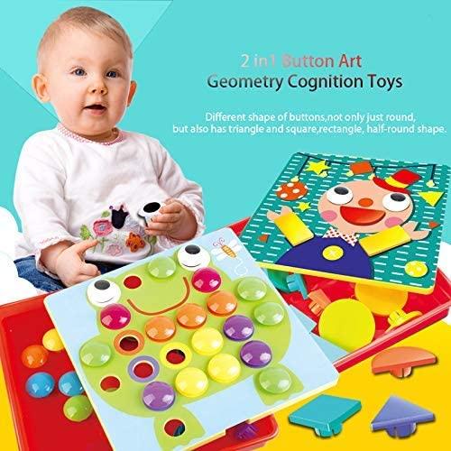 JoyGrow Button Art Toys Color Matching Mosaic Pegboard for ...