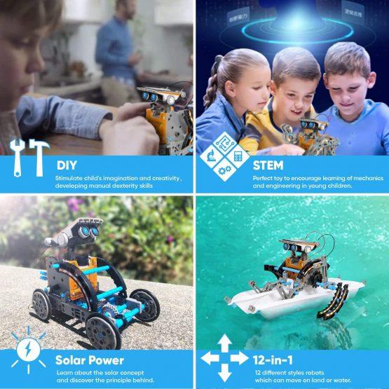 Sillbird STEM 12-in-1 Education Solar Robot Toys-190 ...